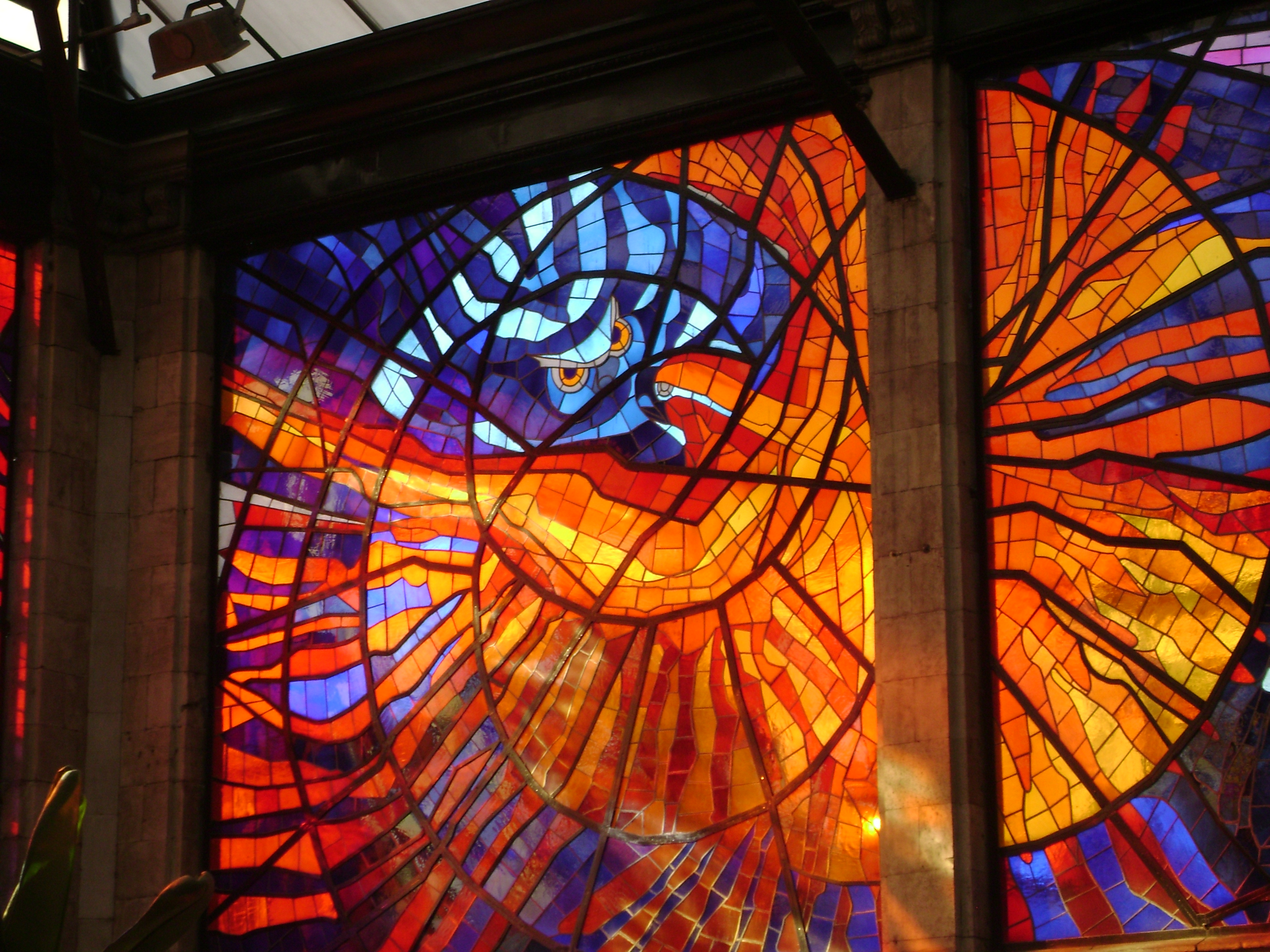 Leaded Stained Glass : Resin stained glass by bear in brooklyn new york