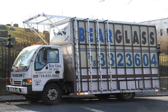 Bear Glass racks and van