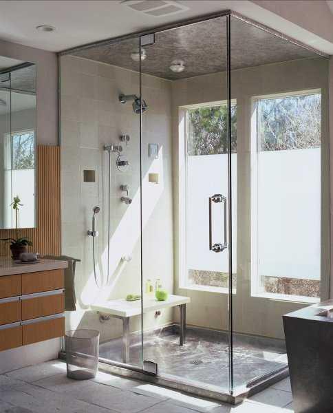Beautiful Two Way Shower Door