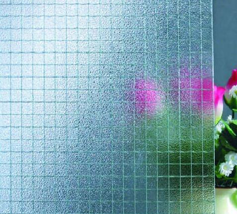 Acid-etched glass is recommended for interior use only