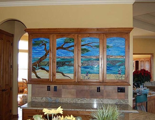 Stained glass a colorful world bear glass blog cabinet door cabinet door stained glass planetlyrics Gallery