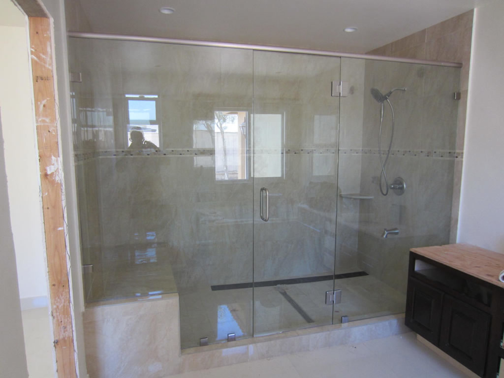 tempered shower enclosure