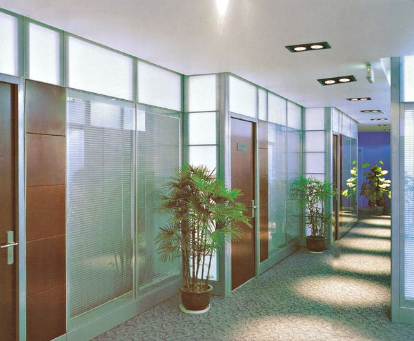 glass wall cheap office partitions