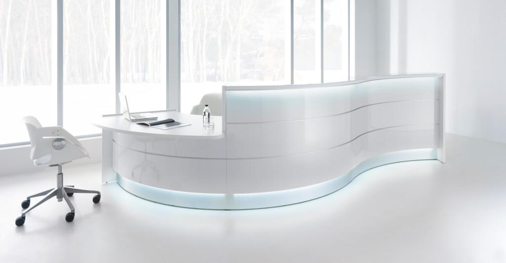 Glass Reception Desk