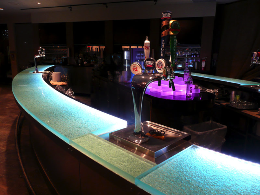 glass bar top