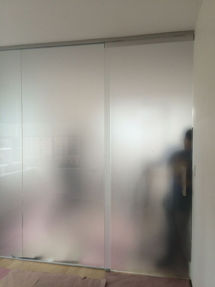 Acid Etched Glass Partition